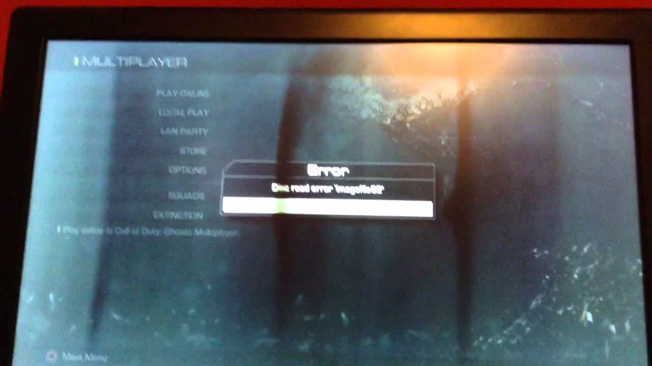 Call of Duty Ghosts Disk Read Error