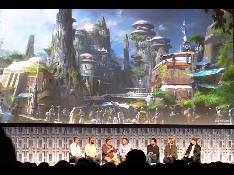 FULL Star Wars Land panel - New details, artwork revealed at Star Wars Celebration 2017