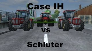Case IH Steiger 600 vs 2X Schluter Super Trac 2500 VL ( Farming Simulator Force Test)