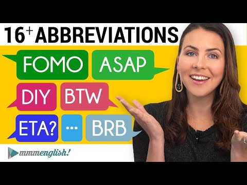 How to Say & Use English Abbreviations   ASAP * FOMO * BTW * FYI