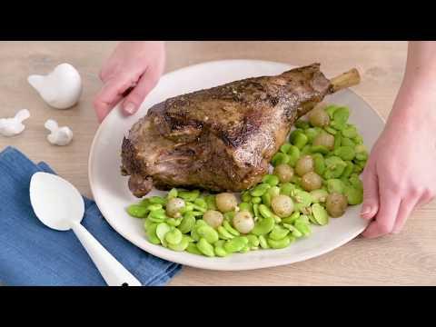 recette-facile-de-gigot-d'agneau-au-zaatar,-sauce-citron-tahiné