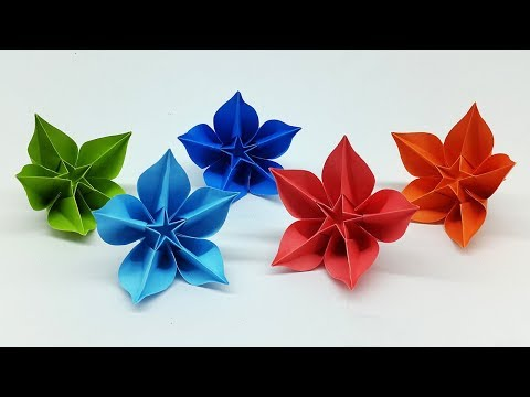 Easy DIY Paper Flowers Making Tutorial - Origami Carambola Flower