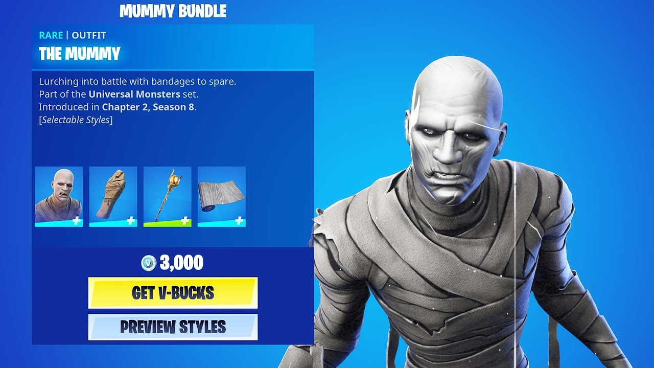 THE MUMMY BUNDLE in Fortnite ITEMSHOP preview