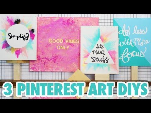3 Pinterest Art DIYs - HGTV Handmade