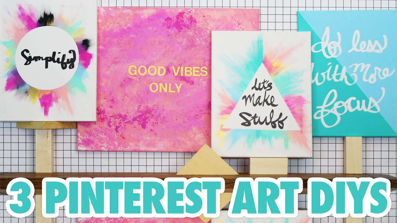 3 pinterest art diys hgtv handmade youtube