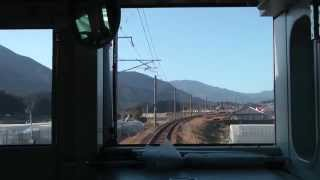 【前面展望】 JR九州 日豊本線 宮崎⇒西都城 817系 6827M