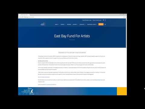 2018 East Bay Fund for Artists Informational Webinar  - 12/14/2017