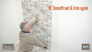 How-to Hang Turner & Gray Paste the Wall Wallpaper | B&M Stores