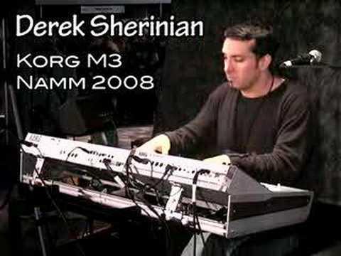 Derek Sherinian plays the Korg M3 at NAMM 2008
