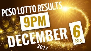 Lotto Results December 6, 2017 at 9:00 pm (Evening draw) ft. 6/55, 6/45, 4D, Swertres & Ez2