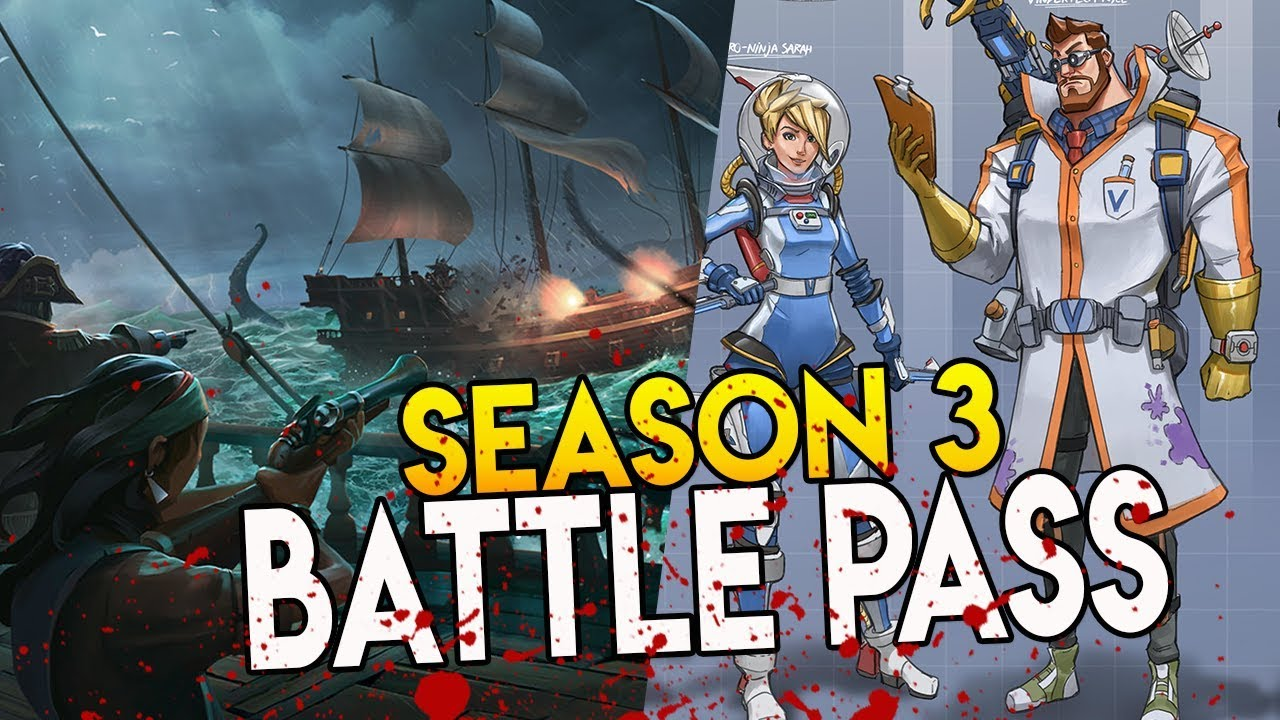 Season 3 Battle Pass Space Pirate Theme Skins Fortnite Battle