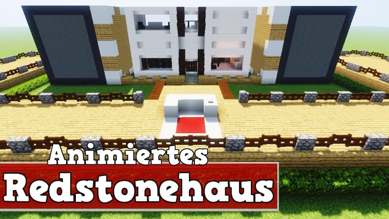 Wie Baut Man Ein Animiertes Redstonehaus In Minecraft Minecraft - Minecraft redstone haus bauen tutorial deutsch