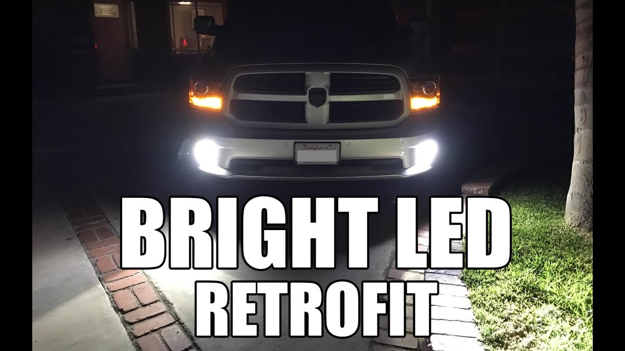 Dodge Ram 1500 Bright Led Fog Light Install How To Diy Save Money Youtube