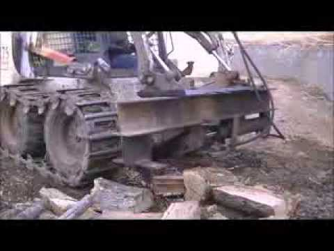 Rsw Homemade Skid Steer Log Splitter Youtube