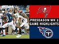 Buccaneers vs. Titans Highlights | NFL 2018 Preseason Week 2
