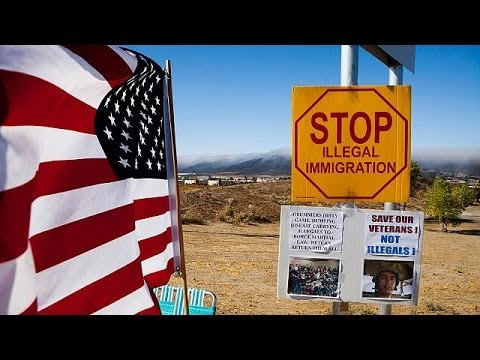 US immigration crisis as tens of thousands of children flee Central American violence without...