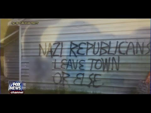 Domestic Terrorism: Republican Party Headquarters in Orange County NC Firebombed, Vandalized