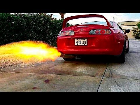 Never MESS with a SLEEPING Toyota Supra!!