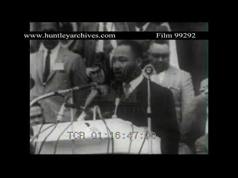 Martin Luther King - Give us the Ballot.  Archive film 99292