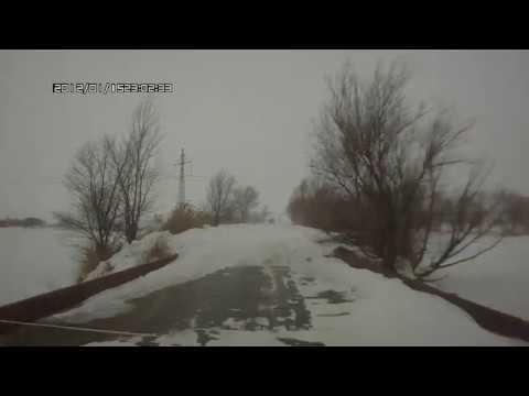 Дорога в Россошь зимой.