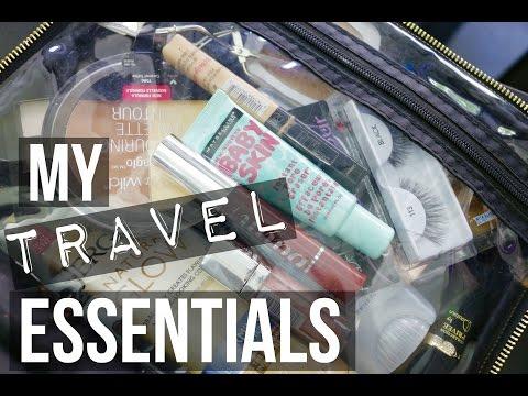MY TRAVEL ESSENTIALS + MAKEUP ROUTINE   SCCASTANEDA