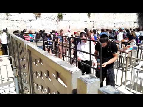 The Western Wall  Hours before the President of the USA Donald Trump visit it Jerusalem, Israel