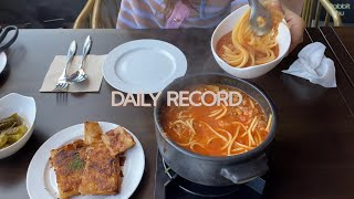 Daily record: 일상 브이로그 (과제, 네일제…