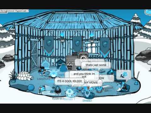 Club Penguin-Rare Igloo: Hawaiian Hut