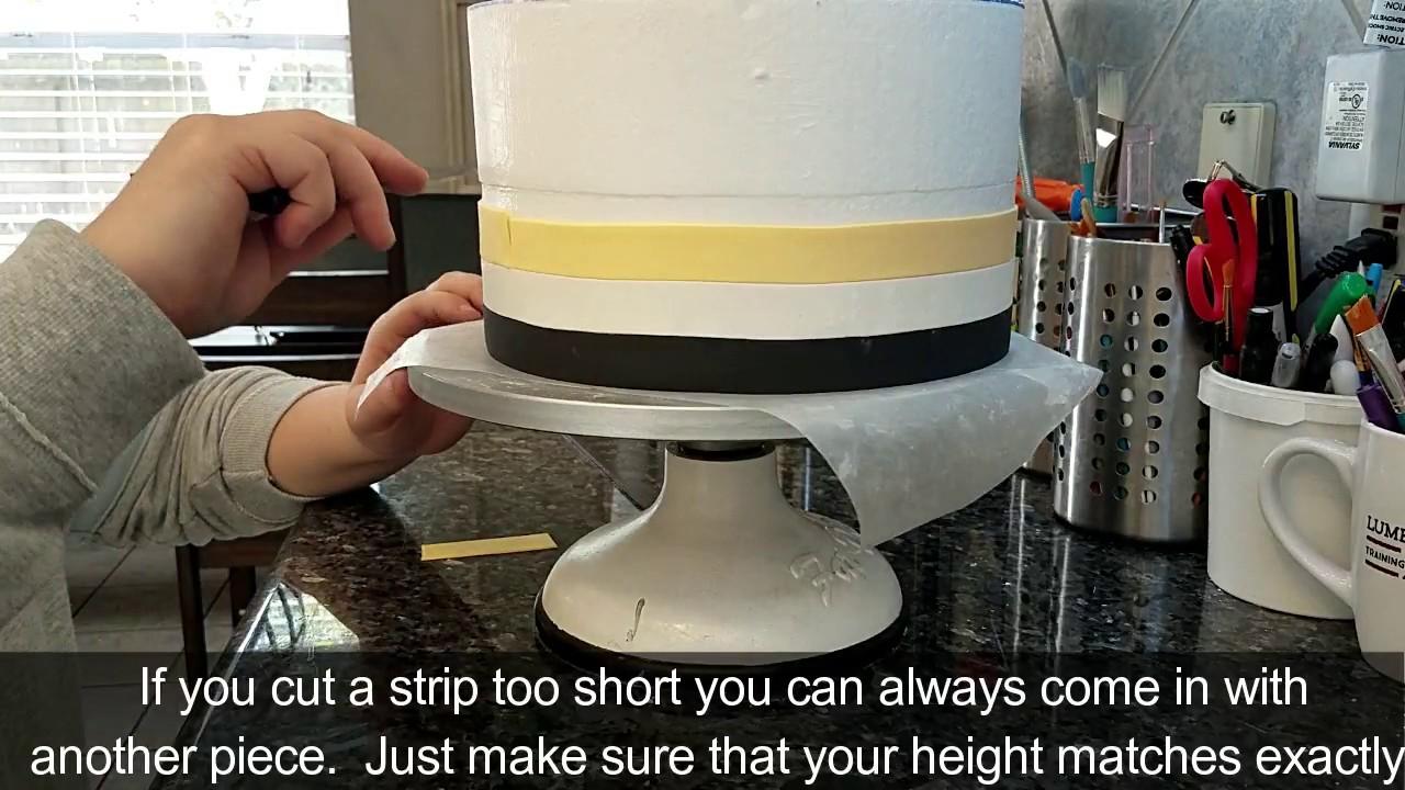 Horizontal Stripes With Fondant