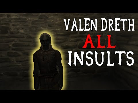 The Elder Scrolls IV Oblivion | Valen Dreth ALL Insults
