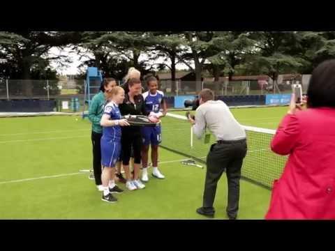 Tennis meets football at Aegon Open Nottingham