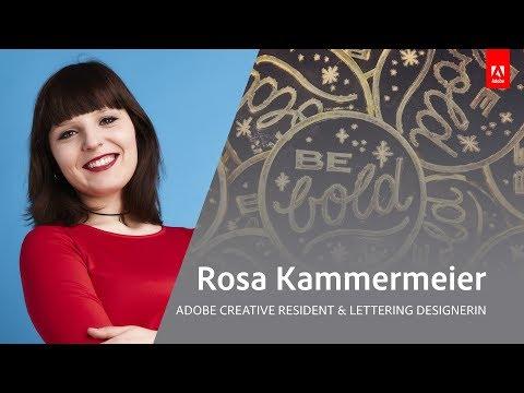 Live Lettering Workshop und Infos zur Adobe Creative Residency mit Rosa Kammermeier - Adobe Live 1/3
