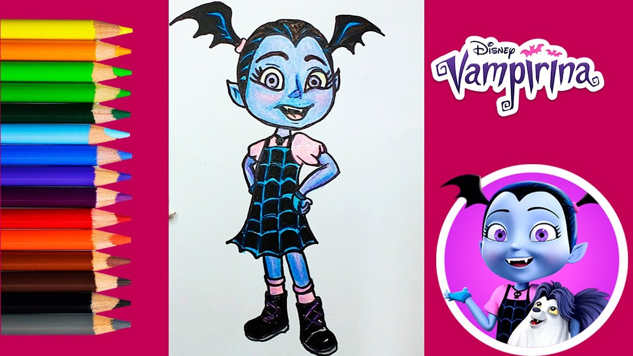 Imagenes De Vampirina Para Colorear: Vampirina Técnica De Dibujo Fácil-cómo Colorear A