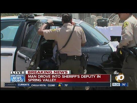 Deputy hurt by fleeing driver in Spring Valley