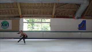 Skating in France - Part 2 - Journey towards Doubles - Adult Figure Skating Practice - July 18
