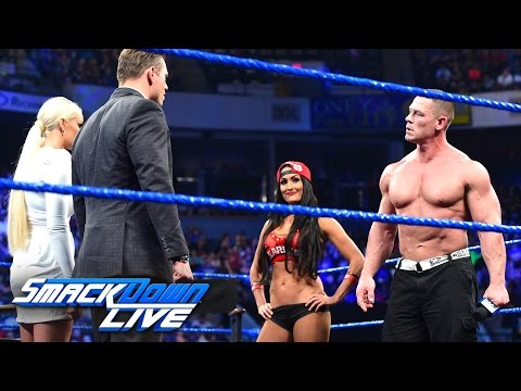 John Cena and Nikki Bella storm onto 'Miz TV': SmackDown LIVE, March 28, 2017