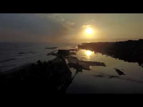 Ocean Sunrise Free Travel Aerial Stock Footage | Landscape and Drone Videos