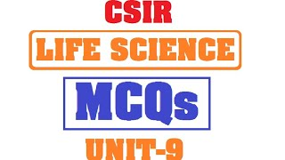 CSIR   LIFE SCIENCE   TOP 10 MCQs