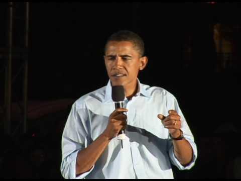 Obama Change Campaign Speech Washington Square Park