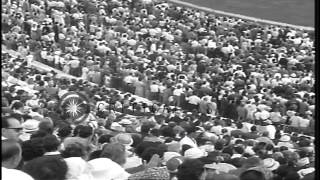 Equestrian event marks the closing of Summer Olympics of 1960 in Rome, Italy. HD Stock Footage