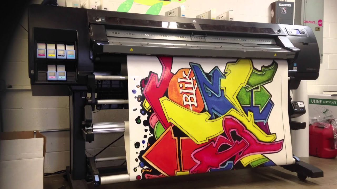 STREET ART PRINTED ON VINYL WALL DECAL YouTube - Vinyl decal printing machine