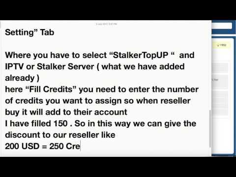 Add Reseller Credits Product  | IPTV Billing Portal For Stalker Middleware