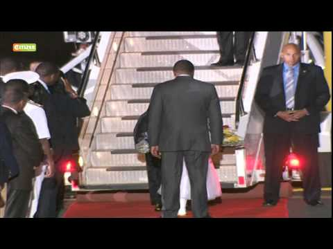 President Barack Obama finally arrives in Kenya