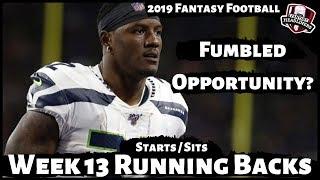 2019 Fantasy Football Advice - Week 13 Running Backs - Start or Sit? Every Match Up