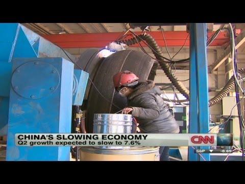 China's economy slowing