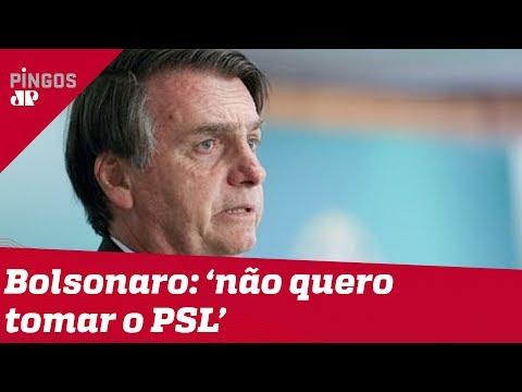Bolsonaro afirma não querer 'tomar partido de ninguém'