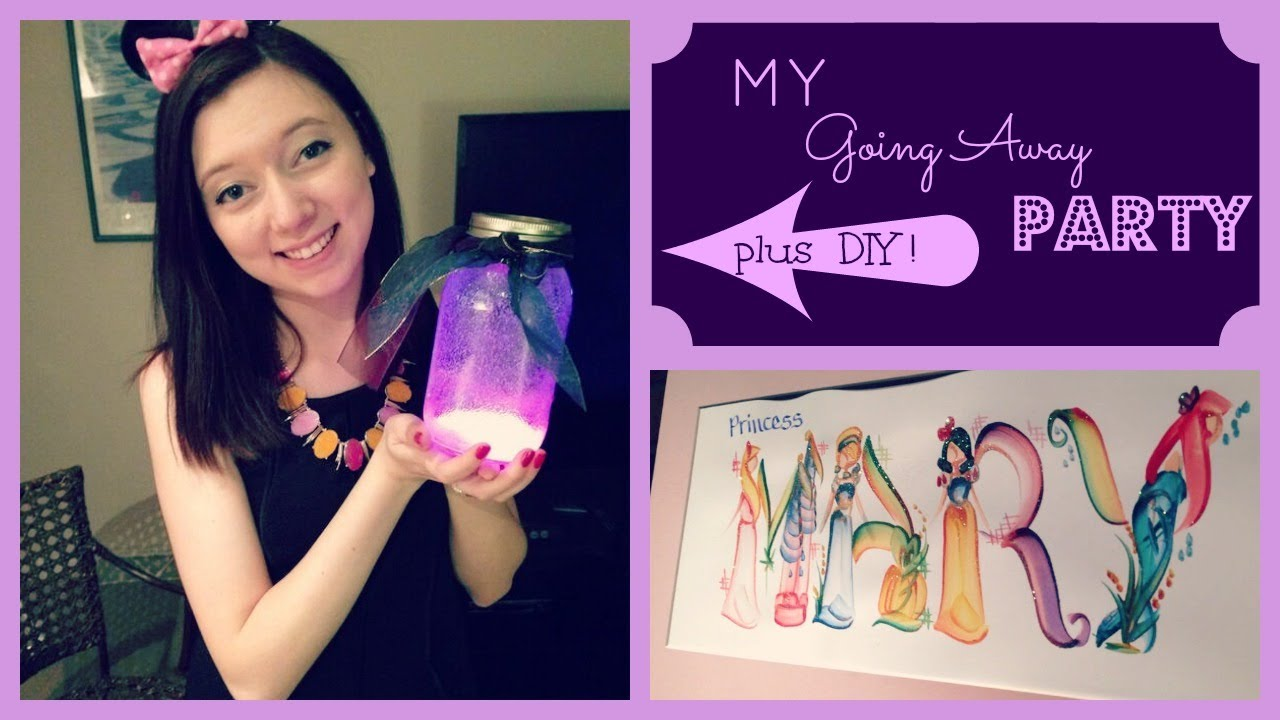 Countdown to DCP My Going Away Party + DIY! - YouTube