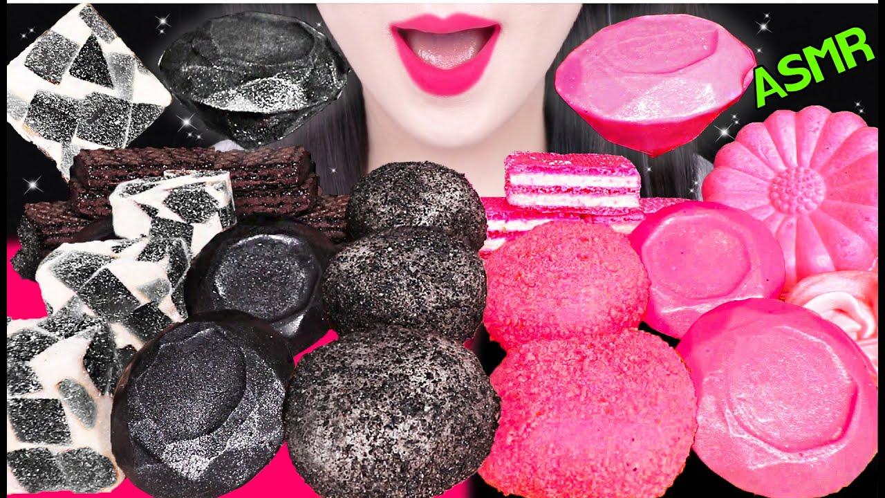 ASMR BLACK PINK FOOD *EDIBLE SOAP, EDIBLE DIAMOND 블랙 핑크 푸드 *먹는 비누, 먹는 다이아몬드 먹방 EATING SOUNDS