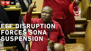 Following the EFF's disruption of Sona, house chair Thandi Modise called for the proceedings to be suspended. The EFF demanded that President Cyril Ramaphosa fire Public Enterprises Minister Pravin Gordhan.