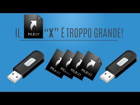 Il File X è Troppo Grande Per Il File System Di Destinazione.